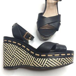 Vince Camuto Wedge Platform Sandal Peep Toe Shoe